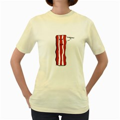 D Don t Eat Me  Womens  T Shirt (yellow)