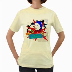Face Of My Life  Womens  T Shirt (yellow)