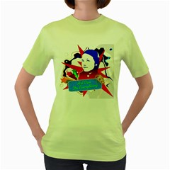 Face of my life Womens  T-shirt (Green)