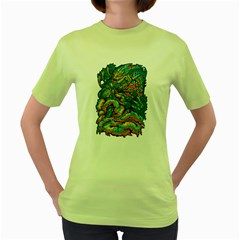 Strike Back ! Womens  T-shirt (Green)