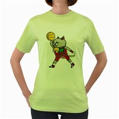 Air Neko Womens  T-shirt (Green)