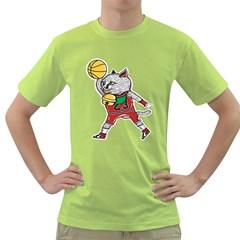 Air Neko Mens  T-shirt (Green)