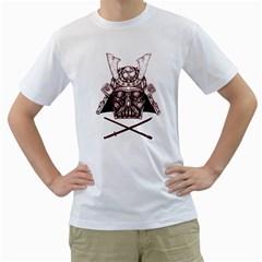 Vader Samurai Mens  T Shirt (white)