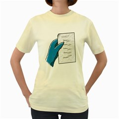 Shopping list  Womens  T-shirt (Yellow)