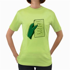 Shopping list Womens  T-shirt (Green)