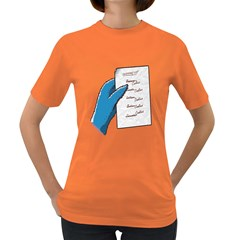 Shopping List Womens' T Shirt (colored)
