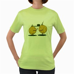 Do you wann marry me? Womens  T-shirt (Green)