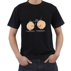 Do you wann marry me? Mens' Two Sided T-shirt (Black)