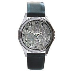 Ripples Round Metal Watch (silver Rim)