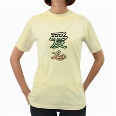 Love ?  Womens  T-shirt (Yellow)