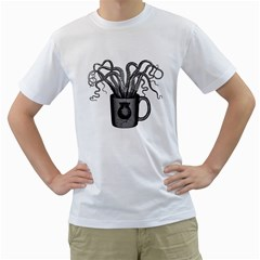 A Cup of Octopus Mens  T-shirt (White)