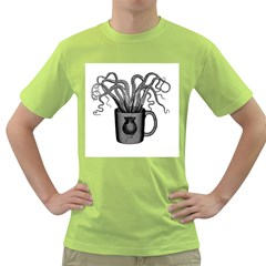 A Cup of Octopus Mens  T-shirt (Green)