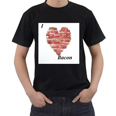 i heart bacon Mens' Two Sided T-shirt (Black)