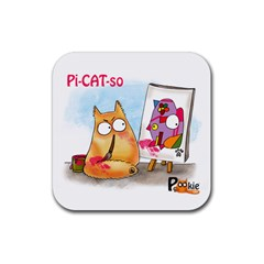PookieCat - Picatso  Drink Coasters 4 Pack (Square)