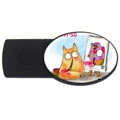 PookieCat - Picatso  2GB USB Flash Drive (Oval)