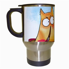 PookieCat - Picatso  Travel Mug (White)