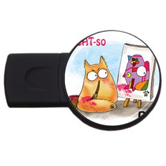 PookieCat - Picatso  4GB USB Flash Drive (Round)