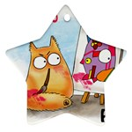 PookieCat - Picatso  Star Ornament (Two Sides) Back