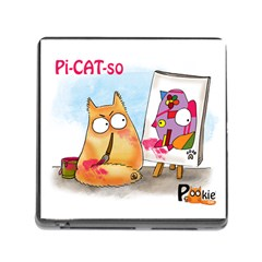 PookieCat - Picatso  Memory Card Reader with Storage (Square)