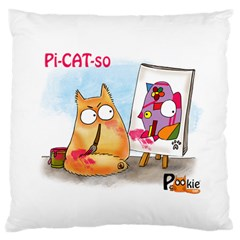 PookieCat - Picatso  Large Cushion Case (Two Sided)