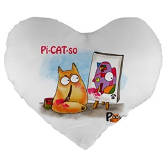 PookieCat - Picatso  19  Premium Heart Shape Cushion