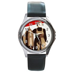 Power  to the masses Round Metal Watch