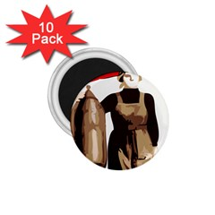 Power  To The Masses 1 75  Magnet (10 Pack)