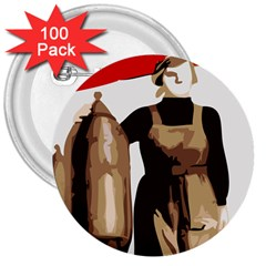 Power  to the masses 3  Button (100 pack)