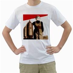 Power  to the masses White T-Shirt