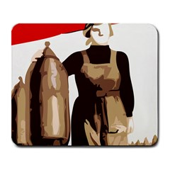 Power  to the masses Large Mousepad