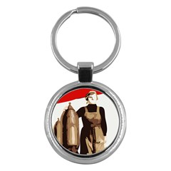 Power  To The Masses Key Chain (round)