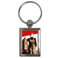 Power  to the masses Key Chain (Rectangle)
