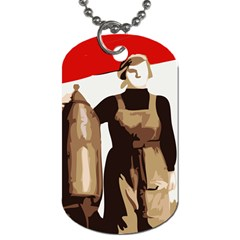 Power  to the masses Dog Tag (Two Sides)