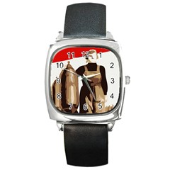 Power  To The Masses Square Metal Watch
