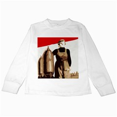 Power  to the masses Kids Long Sleeve T-Shirt