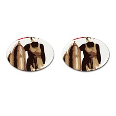 Power  to the masses Cufflinks (Oval)