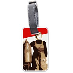 Power To The Masses Luggage Tag (One Side)