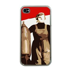 Power To The Masses Apple iPhone 4 Case (Clear)