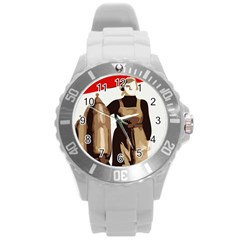 Power To The Masses Plastic Sport Watch (Large)