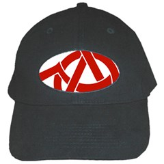 Hammer Sickle Anarchy Black Baseball Cap
