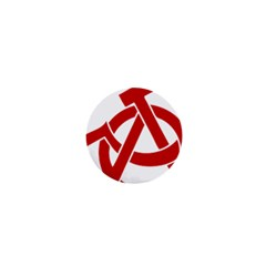 Hammer Sickle Anarchy 1  Mini Button