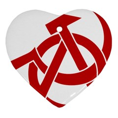 Hammer Sickle Anarchy Heart Ornament
