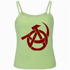 Hammer Sickle Anarchy Green Spaghetti Tank