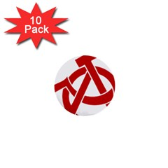 Hammer Sickle Anarchy 1  Mini Button (10 pack)