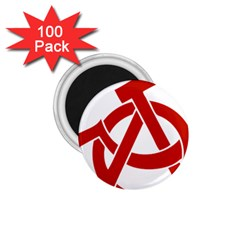 Hammer Sickle Anarchy 1.75  Button Magnet (100 pack)