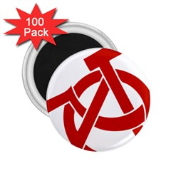 Hammer Sickle Anarchy 2.25  Button Magnet (100 pack)