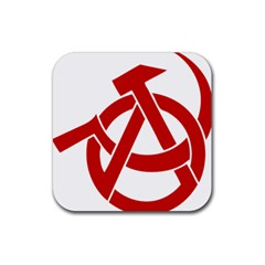 Hammer Sickle Anarchy Drink Coaster (Square)