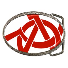 Hammer Sickle Anarchy Belt Buckle (Oval)