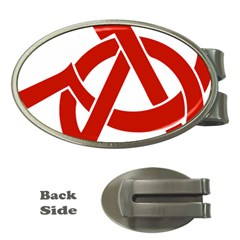 Hammer Sickle Anarchy Money Clip (Oval)