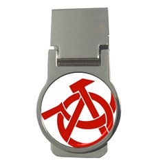 Hammer Sickle Anarchy Money Clip (round)